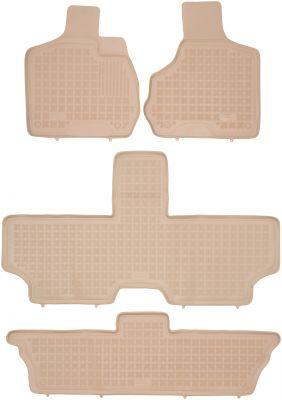 REZAW PLAST beżowe gumowe dywaniki samochodowe Chrysler Voyager IV 7-osobowe od 2001-2007r. 203601B