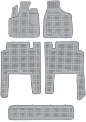 REZAW PLAST popielate gumowe dywaniki samochodowe Chrysler Voyager V 7-osobowe od 2006r. 203701S/Z