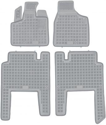 REZAW PLAST popielate gumowe dywaniki samochodowe Chrysler Voyager V 5-osobowe od 2006r. 203701A/S/Z