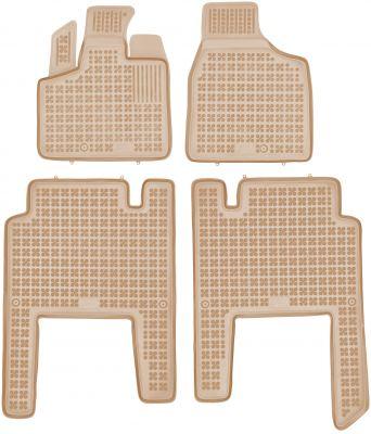 REZAW PLAST beżowe gumowe dywaniki samochodowe Chrysler Voyager V 5-osobowe od 2006r. 203701A/B/Z