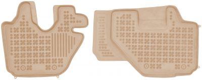 REZAW PLAST beżowe gumowe dywaniki samochodowe Isuzu Elf VI N-Series L od 2006r. 203902B/Z