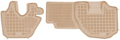 REZAW PLAST beżowe gumowe dywaniki samochodowe Isuzu Elf VI N-Series N od 2006r. 203903B/Z