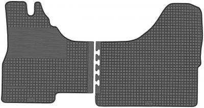 DOMA CZARNA Gumowe dywaniki samochodowe Iveco Daily od 2000-2014r.