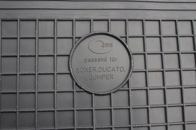 DOMA CZARNA Gumowe dywaniki samochodowe Fiat Ducato od 2006r.