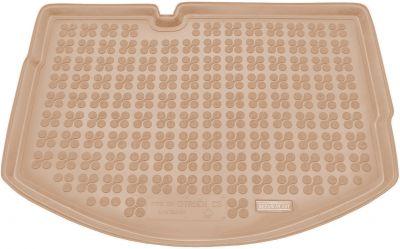 REZAW-PLAST beżowy gumowy dywanik mata do bagażnika Citroen C3 od 2009-2016r. 230130B/Z