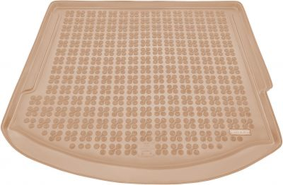 REZAW-PLAST beżowy gumowy dywanik mata do bagażnika Ford Mondeo IV Kombi od 2007-2014r. 230441B/Z