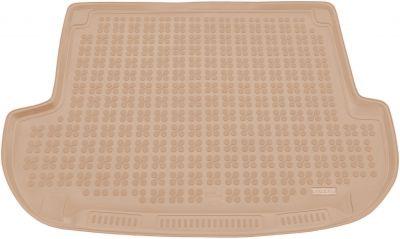 REZAW-PLAST beżowy gumowy dywanik mata do bagażnika Hyundai Santa Fe 5os. od 2006-2012r. 230614B/Z