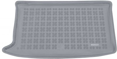 REZAW-PLAST popielaty gumowy dywanik mata do bagażnika Hyundai i20 Premium (górna podłoga bagażnika) od 2014r. 230635S/Z