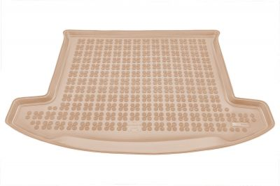 REZAW-PLAST beżowy gumowy dywanik mata do bagażnika KIA Carens 7os od 2013r. 230741B/Z
