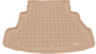 REZAW-PLAST beżowy gumowy dywanik mata do bagażnika Nissan Primera Sedan od 2002-2007r. 231014B/Z