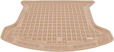 REZAW-PLAST beżowy gumowy dywanik mata do bagażnika Nissan Qashqai+2 7os. od 2008-2013r. 231027B/Z