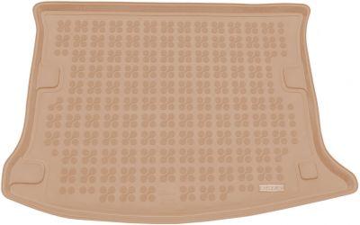 REZAW-PLAST beżowy gumowy dywanik mata do bagażnika Dacia Sandero I od 2008-2012r. 231348B/Z