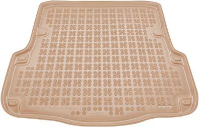 REZAW-PLAST beżowy gumowy dywanik mata do bagażnika Skoda Octavia II Kombi od 2005-2013r. 231511B/Z