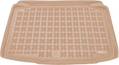 REZAW-PLAST beżowy gumowy dywanik mata do bagażnika Skoda Fabia II Hatchback od 2007-2014r. 231514B/Z
