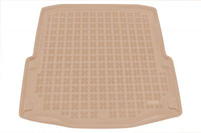 REZAW-PLAST beżowy gumowy dywanik mata do bagażnika Skoda SuperB II od 2008-2015r. 231517B/Z