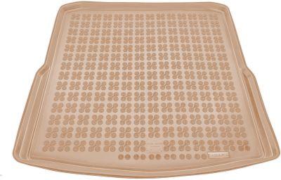 REZAW-PLAST beżowy gumowy dywanik mata do bagażnika Skoda SuperB II Kombi od 09/2009-2015r. 231519B/Z