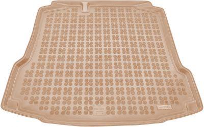 REZAW-PLAST beżowy gumowy dywanik mata do bagażnika Skoda Rapid od 2012r. 231520B/Z