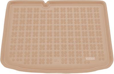 REZAW-PLAST beżowy gumowy dywanik mata do bagażnika Skoda Fabia III Hatchback od 2014r. 231526B/Z