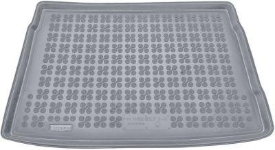 REZAW-PLAST popielaty gumowy dywanik mata do bagażnika Volkswagen Golf V Hatchback od 2003-2008r. 231822S/Z