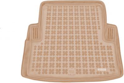 REZAW-PLAST beżowy gumowy dywanik mata do bagażnika BMW s3 E90 Sedan od 2005-2012r. 232107B/Z