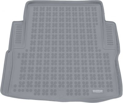 REZAW-PLAST popielaty gumowy dywanik mata do bagażnika BMW s3 F30 Sedan od 2012r. 232132S/Z