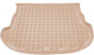 REZAW-PLAST beżowy gumowy dywanik mata do bagażnika Mazda 6 Hatchback od 2002-2008r. 232209B/Z