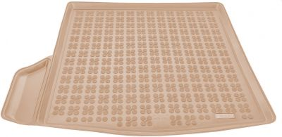 REZAW-PLAST beżowy gumowy dywanik mata do bagażnika Mazda 3 Sedan od 2013r. 232229B/Z