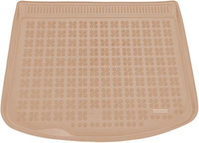 REZAW-PLAST beżowy gumowy dywanik mata do bagażnika Mazda 3 Hatchback od 2003-2013r. 232230B/Z