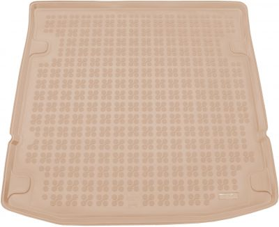 REZAW-PLAST beżowy gumowy dywanik mata do bagażnika SsangYong Rexton II Y450 od 2017r. 232812B/Z