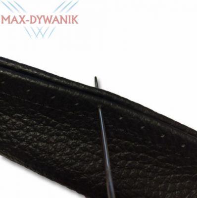 Wiązany skórzany pokrowiec na kierownice średnica 37-39cm