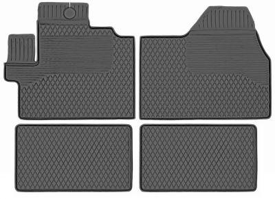 Gumowe dywaniki samochodowe Citroen Jumper 4-cz od 2006r. (KX/27D)