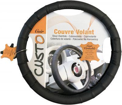 Nakładka skórzany pokrowiec kierownica Couvre Volant 36,5-38cm Nr kat. 122582
