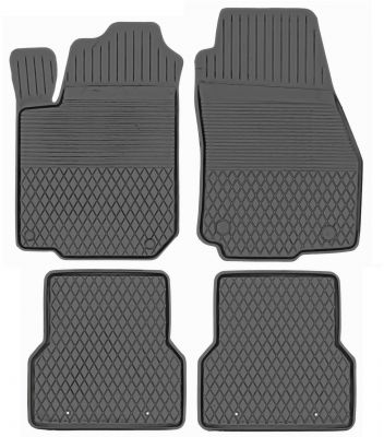 KORYTKA Gumowe dywaniki samochodowe Fiat Doblo od 2010r. (U/DX-1)