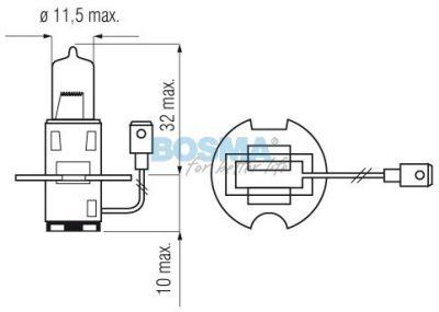 Żarówka Bosma H3 12V 55W PK22S