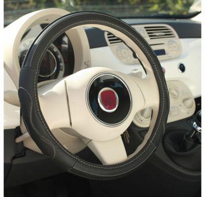 Nakładka skórzany pokrowiec kierownica Premium Gris 36,5-38cm