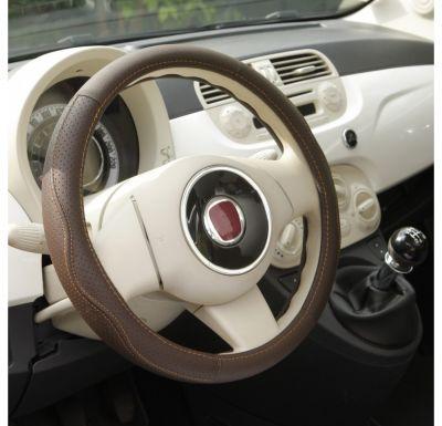 Nakładka skórzany pokrowiec kierownica Premium Havana 36,5-38cm