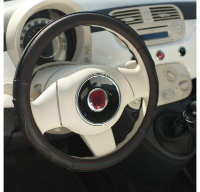 Nakładka skórzany pokrowiec kierownica Premium Rouge 36,5-38cm