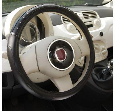 Nakładka PVC pokrowiec kierownica Premium Black Diamond 36,5-38cm