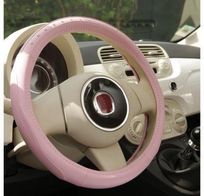 Nakładka PVC pokrowiec kierownica Premium Pink Diamond 36,5-38cm