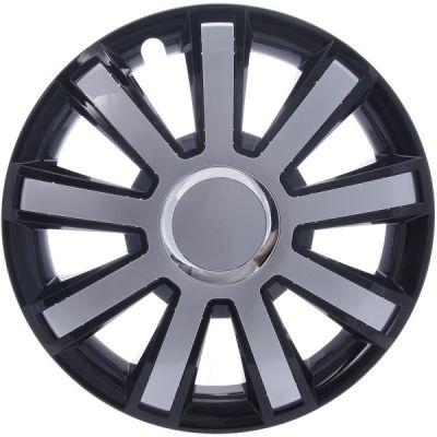 Kołpaki Czarno Srebrne FLASH (4-szt) rozmiar 16