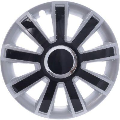 Kołpaki Srebrno Czarne FLASH (4-szt) rozmiar 15