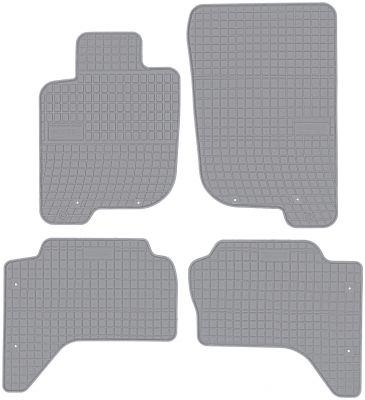 FROGUM popielate gumowe dywaniki samochodowe Mitsubishi L200 od 2006-2016r. GR0483