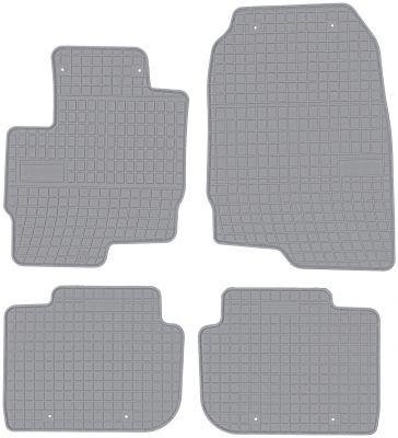 FROGUM popielate gumowe dywaniki samochodowe Mitsubishi Colt VI 5os od 2008-2012r. GR0484