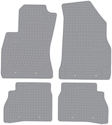 FROGUM popielate gumowe dywaniki samochodowe Fiat Doblo II 5os od 2010r. GR0910