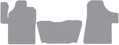 FROGUM popielate gumowe dywaniki samochodowe Mercedes Vito od 2003-2015r. GRD0092