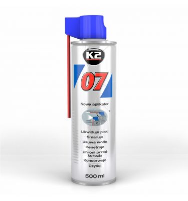 K2 07 500 ML - Likwiduje piski i zgrzyty  w zawiasach