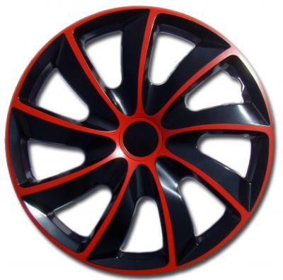 Kołpaki czerwone QUAD (4-szt) rozmiar 15