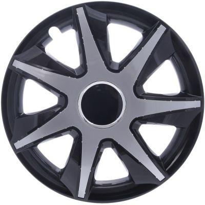 Kołpaki Czarno Srebrne RUN (4-szt) rozmiar 15